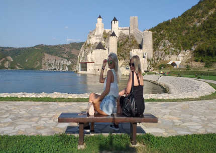 Opet the Iron Gate on the Danube River -  fortress Golubac,Ram ,monastery Tumane Silver Lake -private tour by car.